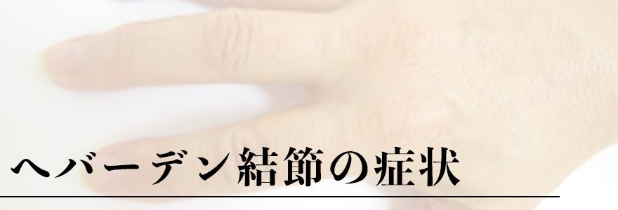 ヘバーデン結節学会(東京)症状ヘッダー